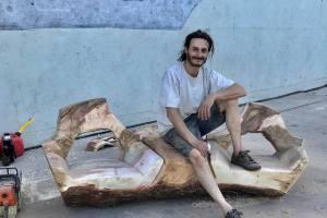 Federico Arcidiácono ama la madera