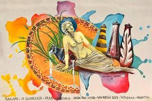 Lidia Rosana Gómez, paleta de trazos